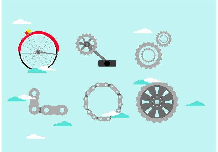 wheel steel Part isolated iron group gearwheel flyer fitness equipment element drive cycling Component chain bike sprocket bike bicyclist bicycle bell alloy