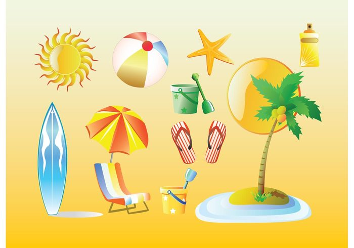 vacation umbrella travel toys surfboard sun summer star spray slippers palm island holiday flip flops chair Bathing ball
