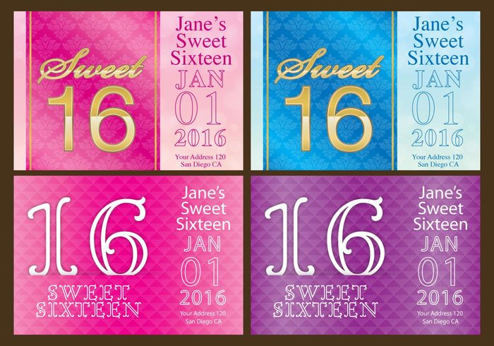 young white vector tropical text templates template Teen sweet 16 sweet sixteen pink party luau joy invite invitation illustration happy graphic girl fun flyer flowers flower floral female event drawing design decoration colorful cheerful celebration celebrate card bright birthday area Age abstract 16th 16