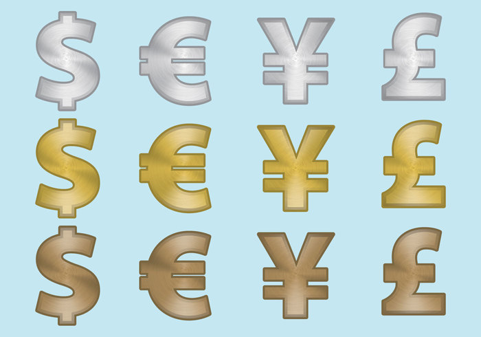 Aluminum Currency Symbols 143749 Welovesolo