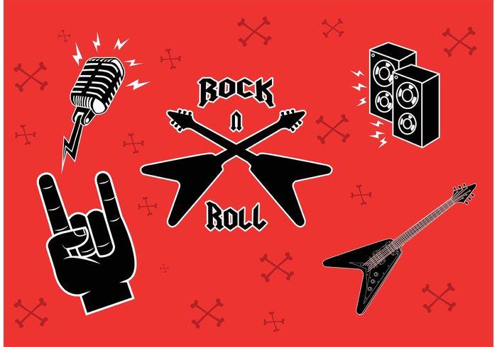 sound rock music symbols rock and roll symbols rock and roll rock musician musical music microphone guitars guitarist guitar finger electric guitar electric concert band acoustic