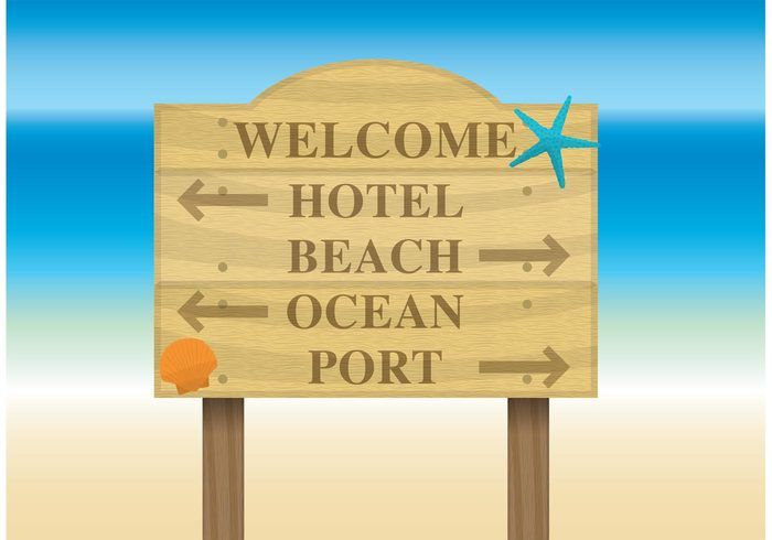 wooden wood vacations Tropic travel touristic tourism sunny summer vacation summer holiday summer signboard sign resort post paradise nature message information exotic board billboard for beach billboard banner advertising