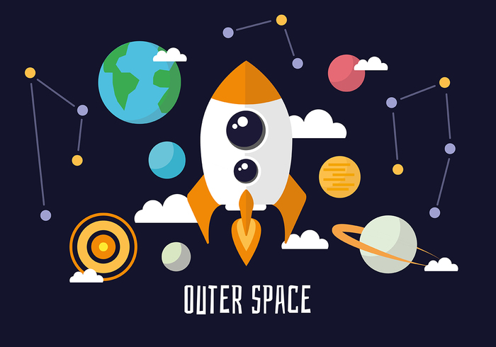 Free flat space landscape vector background 107900 for Outer space garden design clevedon