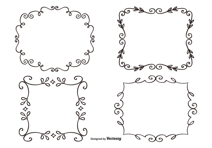 vintage swirl sign shape scroll retro placard picture frame ornate ornament old fashioned old line label frames frame set frame element Elegant Frames elegant elegance Design Elements decrative frame decorative decoration cute curve curly collection classic border banner