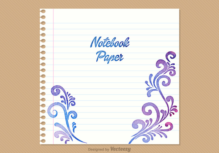 write watercolor vector torn texture textbook text SWIRLY LINES spiral sheet school ripped retro remind remember recycled paper page office notice notes notepad notebook paper background notebook message memory memo list lined line letter journal isolated empty education document design Copybook bookmark book blank binding binder background art