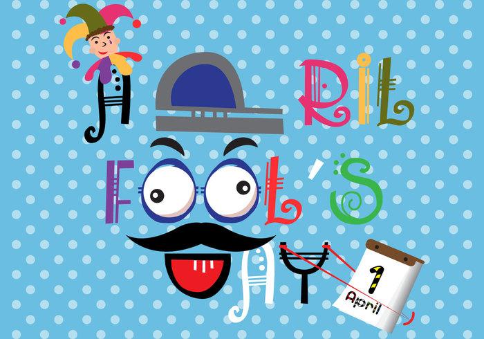 sling shot moustache joker Joke jester humor hat funny fools Fool first dotted day colorful cockeye calendar background April