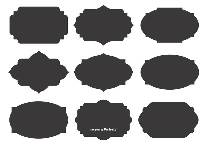 Blank Vector Label Shapes 267242