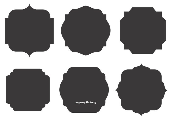 Blank Vector Label Shapes 267238