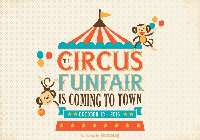 vintage vector typography texture tent template ribbon retro poster party old circus posters old monkey Lettering illustration hipster graphic funfair ferris Fairground fair decoration cute classic Circus childish cartoon carousel carnival card butch birthday banner balloon background art amusement Acrobat