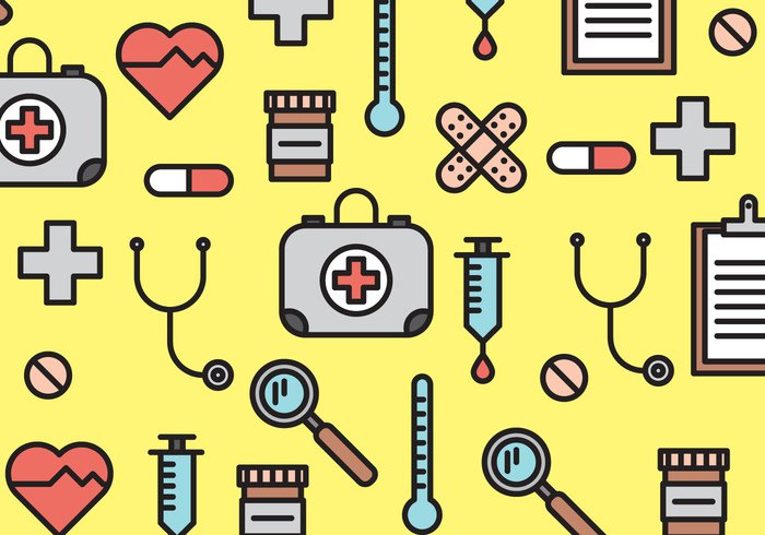 yellow repeat pattern nurse medical pattern medical icon hospital heart healthy heart health elements doctor colorful blood drive bandaid background