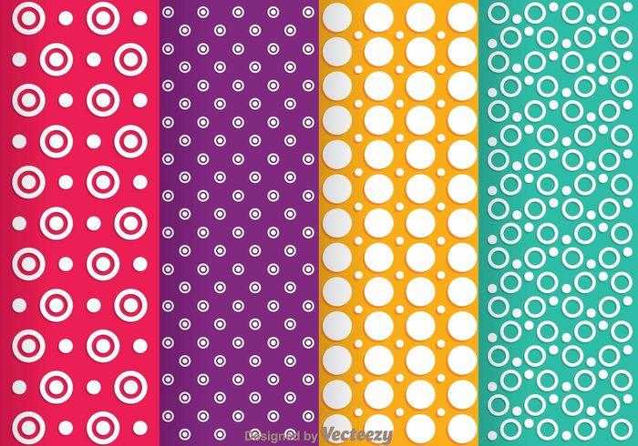 wallpaper Textile shape seamless purple polka dot pattern pattern Magenta luxury line fabric elegant dot pattern dot curve circle background