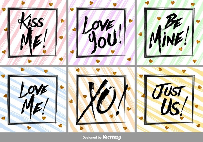 typography type tag script romantic poster postcard modern love Lettering label ink illustration heart hand greeting gold drawn decoration card brush background