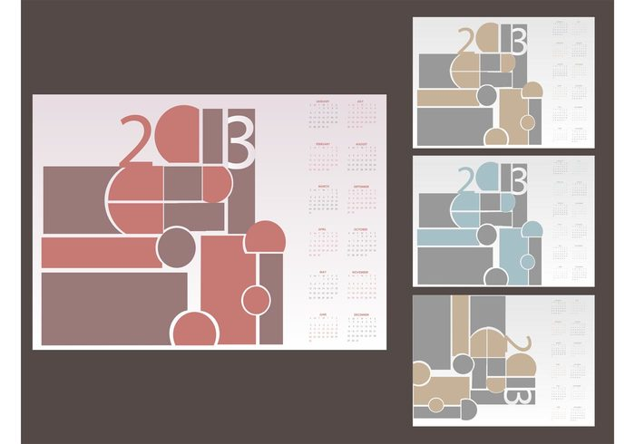 year weeks time templates shapes months Geometry geometric events decorations days dates Composition agenda abstract