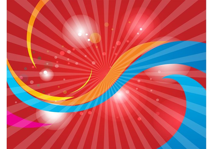 vector elements swoosh swirl streak shine red rays light Intense greeting card Cool backgrounds bright banner abstract