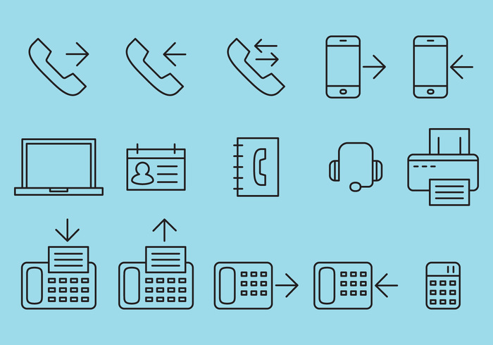 web telephone technology support sound sms icon printer pictogram phone navigation modern mobile minimalistic media line internet icon flat fax icon fax email icon computer communication call button business application app