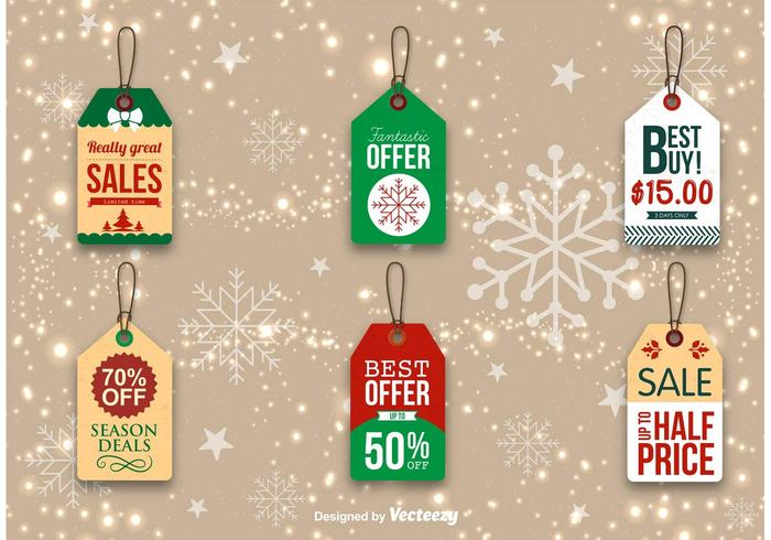 xmas vintage typography templates design tag snowflake shopping season sale retro purchase promo present offer Noel message merry lowest price label icon holidays happy hang tags greeting gift frame event discount clearance christmas celebration border