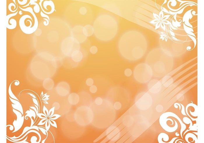 swirl sun scrolls ornate orange magical free backgrounds flourish filigree fairy tale Fable bubbles atmosphere