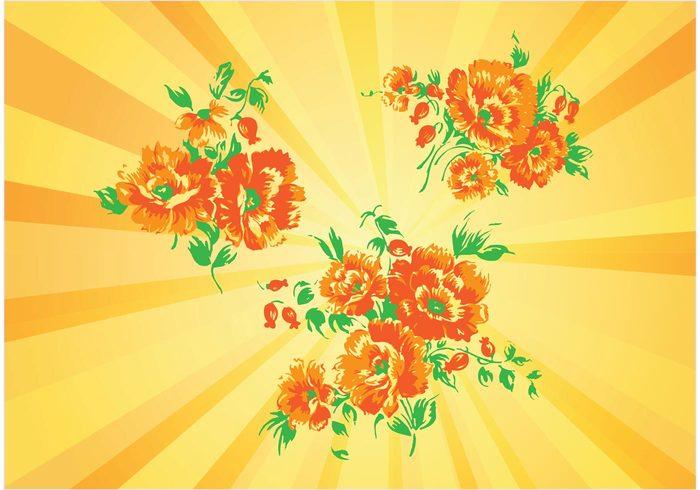yellow summer spring orange happy gerbera garden flowers floral daisies cheerful bright bouquet botanical