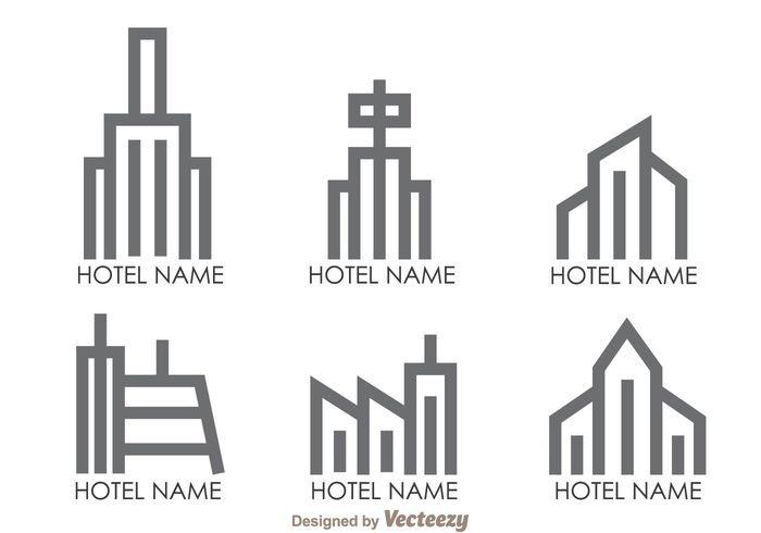 town symbol skyline shape resort logo line hotels logos hotels logo hotel logos hotel logo hotel gray estate building buid big