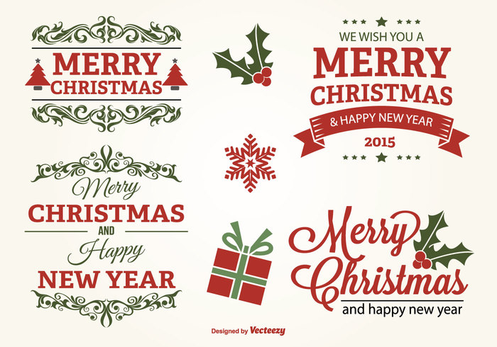 year xmas winter vintage tree text snowflake shape set season retro present postcard ornament message merry xmas merry christmas merry Lettering label invitation holiday happy new year happy greeting gift frame flourish decoration december 25 congratulation christmas tree christmas labels christmas background christmas 2015 christmas celebration card 2015