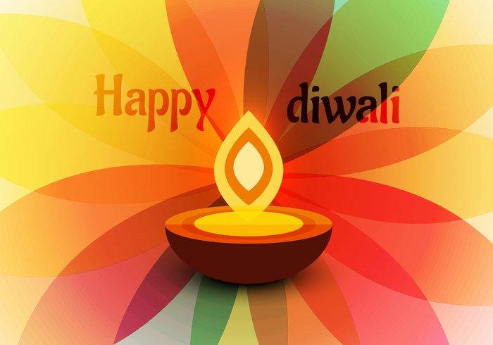 transparent petals pattern oil lit lamp flower flora festival diya Diwali design Composition background abstract