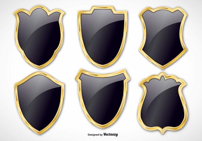 vector shields texture symbol steel sign shiny shield set shield security secure safety rivet protection protect metallic metal medieval iron insignia icon heraldic guard gray graphic gold glossy emblem element elegant shield Design Elements Chrome black shields black badge Anti