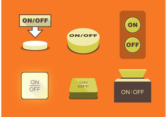 push press power down power button power on off button on off on button on off button off glowing button buzzer button 3d