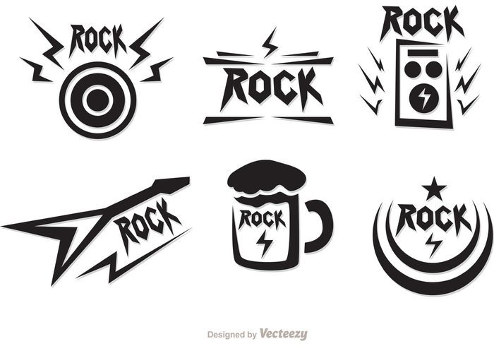 Rock Music Symbols Vectors Pack Welovesolo