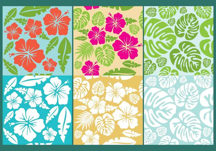 tropical travel tile tiki surfing surf square seamless sea print polynesian flower Polynesian plant pattern leaf jungle island hibiscus hawaiian backgrounds hawaiian background Hawaiian hawaii fun flower background flower floral fern fashion fabric beach background aloha