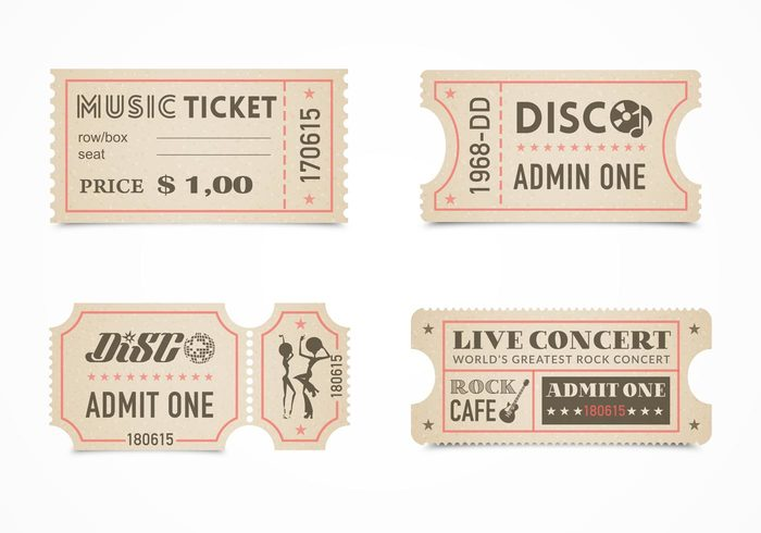 vintage vector typography ticket theater symbol star sign show seat retro Release projection production permission performance pass paper old number music movie leisure label isolated industry illustration icon grungy grunge graphics film festival event entry entrance entertainment delivery dance coupon concert ticket stub concert concept cinema background art aged admit admission