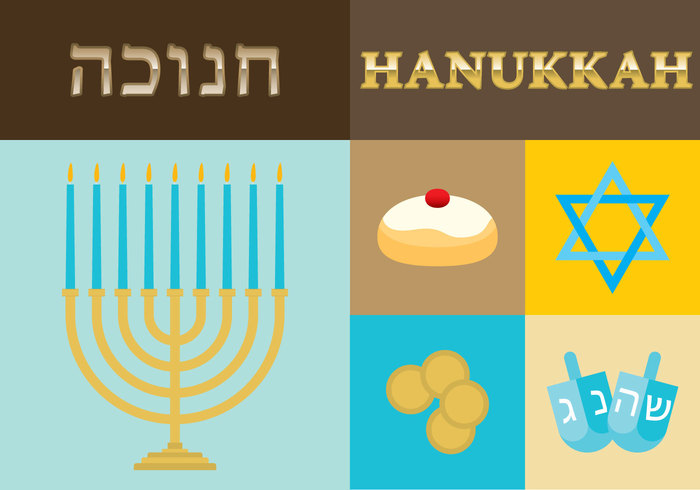 website vector trendy symbol sufganiyot stylish star present poster oil modern Menorah jug judaism jewish illustration icons holiday Hanukkah greeting gift gelt flyer flat element dreidel doughnut design David cover chanukah celebration card candle box bottle