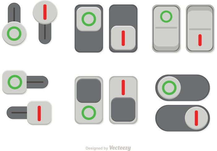 witch touch toggle sliding slide shutdown push power on off buttons on off button on button on off button off media interface flat button