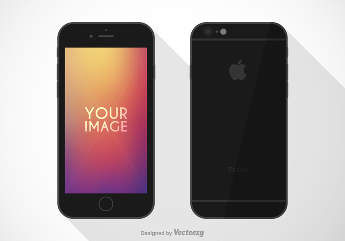 vector trendy touch template technology tablet symbol smart screen phone modern mockup mobile isolated iphone6 iphone internet illustration icon grey front flat element electronic display digital device design concept computer communication business blank black background back apple air 6