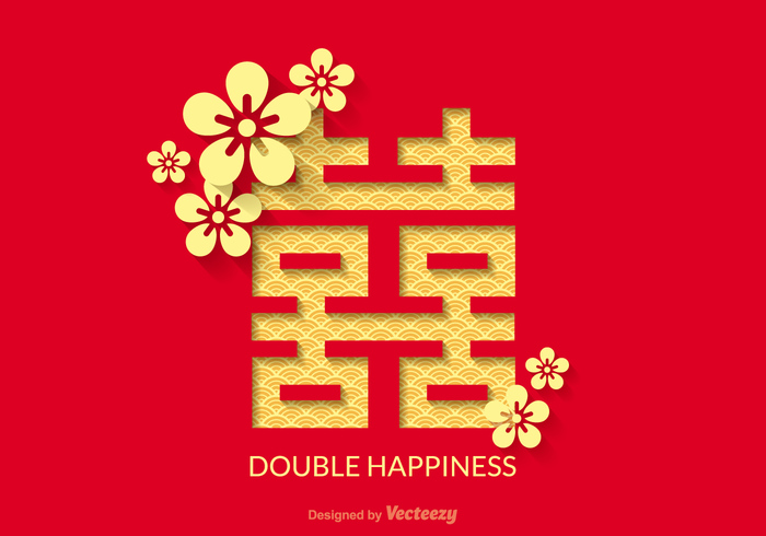 Free Double Happiness Vector Design 105607 Welovesolo