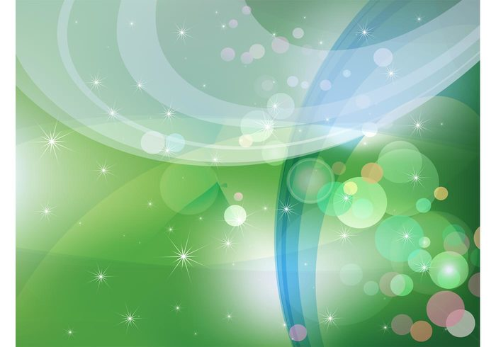 stars sparkle Mesh vector joy happiness green fantasy dreams Cool backgrounds circle bubbles abstract