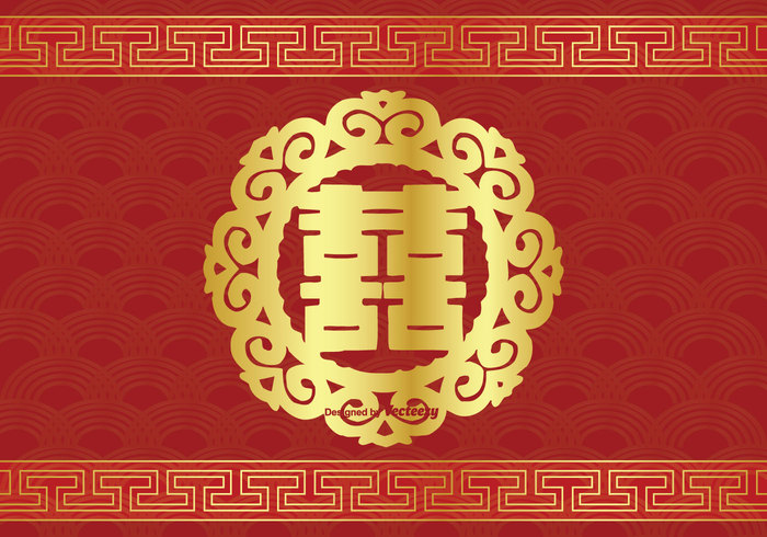 Chinese Double Happiness Symbol Illustration 144189 Welovesolo