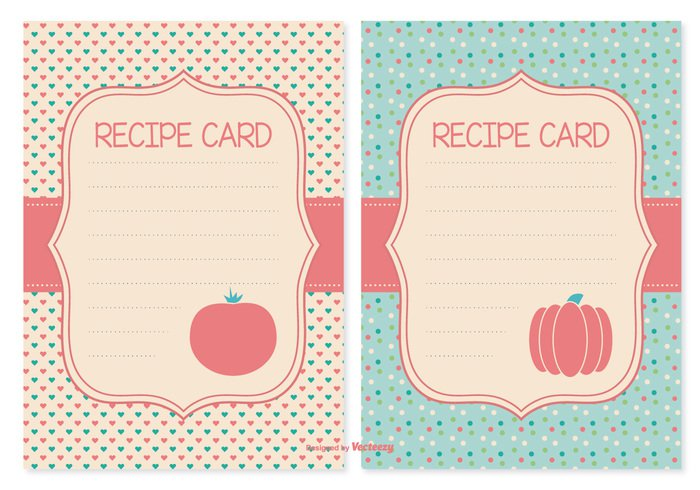 vector cards vector template symbol style space sketch sign sheet set serve retro restaurant recipe cards recipe card recipe print plate paper object notepad meal line leaf knife kitchen isolated intructions image illustration hand graphic freehand fork food fish elements drawn doodle dish directions design collection cartoon card set card cafe business book bay background art