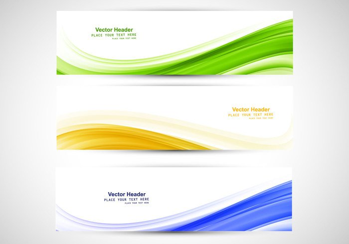 yellow white wave technology set header green flowing copyspace Compositions business blue banner background abstract
