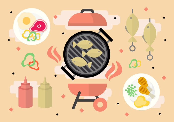 vector template Tasty t bone steak symbol summer sausage Roast red presentation poster picnic party Outdoor national meat lunch label Independence hot holiday heat grilling grilled grill fun Fried fork food flyer flame fire family picnic event eat dinner design creative cooking cook chicken bone celebration card bbq barbecue banner background art american