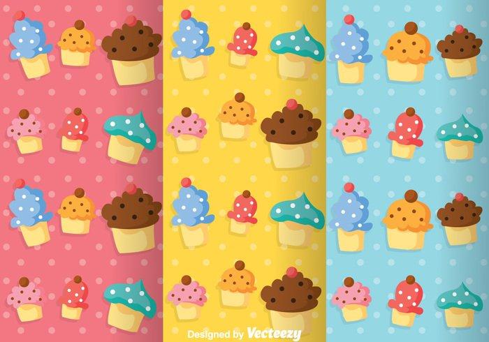 wallpaper sweet soft shape repeat pattern girly patterns girly pattern girly food cupcakes cupcake pattern cupcake colorful cake pattern cake background