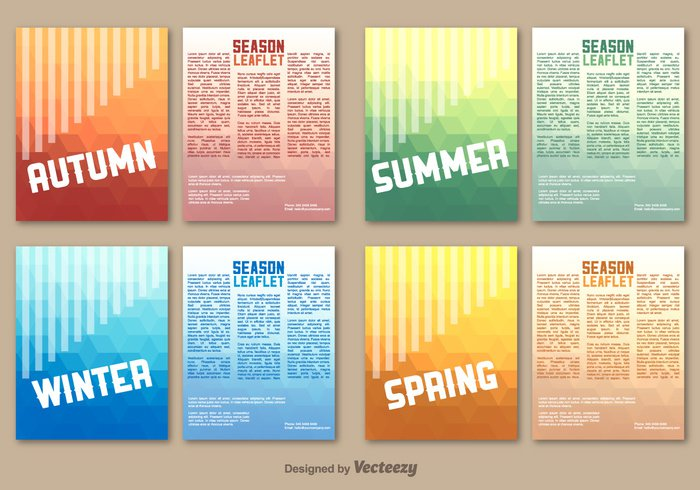 year template spring season poster paper magazine Leaflet layout holiday green flyer cover brochure booklet book background art