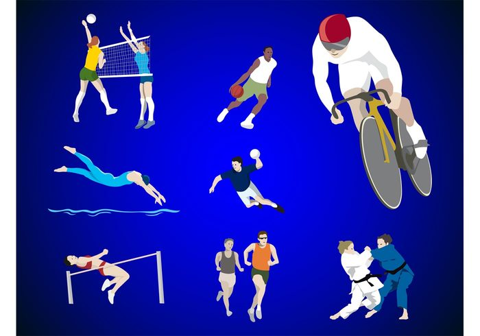 Workout volleyball swimming running olympics martial arts marathon jogging health games fitness fighting cycling basketball athletics aikido