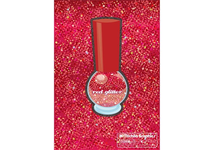 texture sparkly sparkle red nail polish glittery glitter