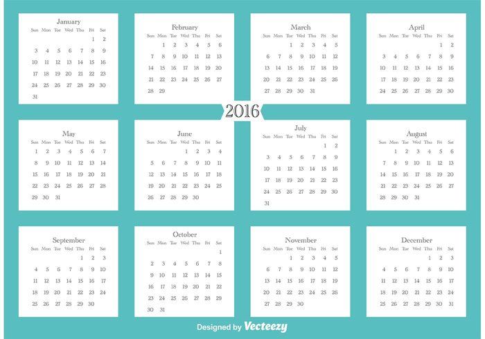 year calendar year week vector time template simple season schedule red planner organizer office number monthly month modern illustration graphic event european english England element diary design day date daily color card calender calendar 2016 calendar business basic background Annual 2016 calendar 2016