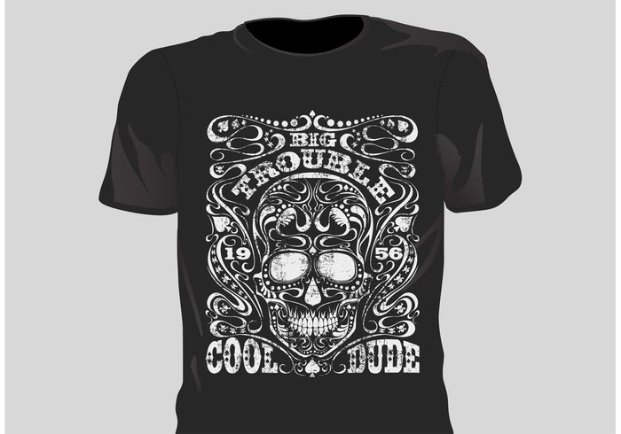 vintage vector t-shirt style skull sign shirt retro print motor man label illustration grunge free grunge t shirt designs fashion design clothing boy biker apparel america