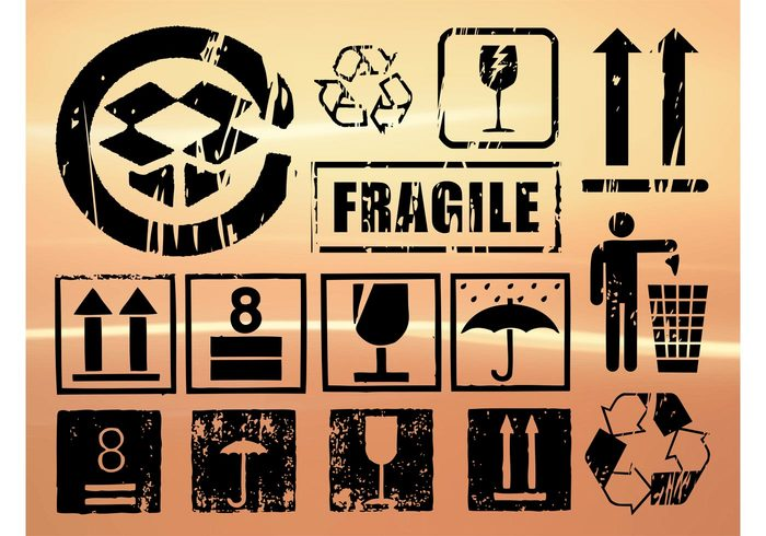 transport storage shipping shipment logistics fragile deliver crate container clip art care cardboard box attention