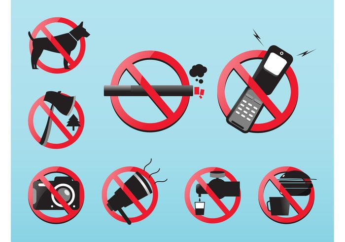 tree signs shiny Reflections phone Not allowed lines hamburger Forbidden faucet cup circles camera axe