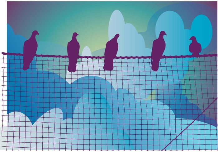 waiting Wait sky sitting sit nature high greeting card gang friends freedom free doves creative clouds Birds vector