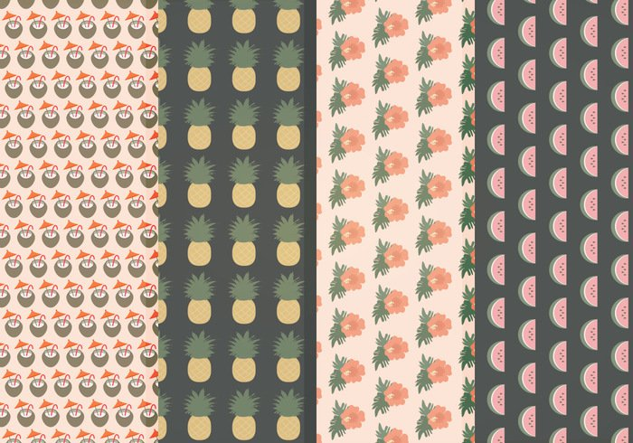 set seamless patterns seamless pattern Patterns pattern set pattern collection pattern nature hawaii patterns hawaii hawai fruits patterns fruits fruit background