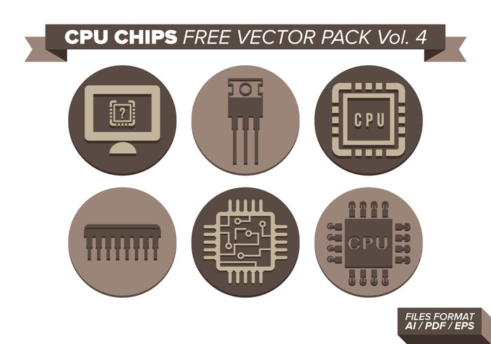 cpu chips free vector pack vol  4